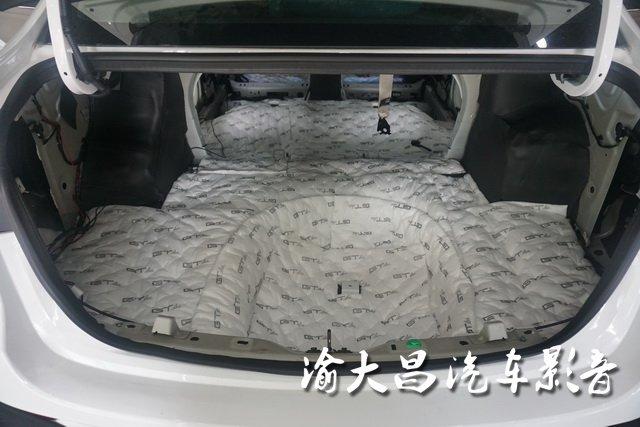 别克英朗全车隔音改装gt隔音—重庆渝大昌汽车隔音改装